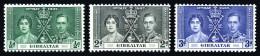 GIBRALTAR 1937 - Michel #104-106 **MNH** - Gibraltar