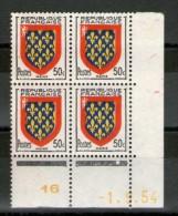 CD 999**_1/9/54_bleu Et Jaune Déplacés_voir 2 Scans - Coins Datés