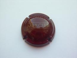 Capsule Plaque De Muselet Champagne Mercier Depuis 1858 - Bordeaux Et Dorée - Mercier