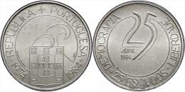 """PORTUGAL  25 Escudos 1.984  Cu Ni  KM#623 """"25 Abril 1.984-10Th Anniversary Of Revolution""""  UNC/SC  T-DL-11.348 - Portugal"""