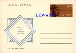 W POLAND - 1969.10.09. Cp 422 100th Birthday Of Mahatma Gandhi - Ganzsachen