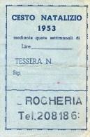 A 2155 - Cesto Natalizio 1953 - Altre Collezioni