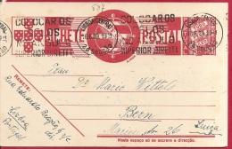 LD-587      LISBOA CENTRAL   1939        Naar       BERN - Postal Stationery