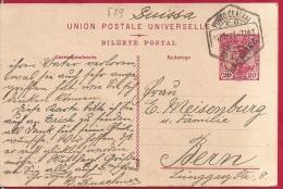 LD-589      PORTO CENTRAL     1911          Naar     BERN   SUISSA - Postal Stationery