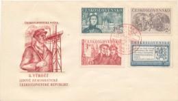Czechoslovakia / First Day Cover (1950/03) Praha 1 (a): Liberation Of Czechoslovakia (1945) - 1,50 Soviet Tankman - 2. Weltkrieg