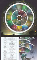 N580.-.KOREA / COREA.-.2015. STORIES OF CONSTELLATIONS / ZODIAC. CIRCULAR SHEET X 16 ADHESIVE STAMPS - Astrología