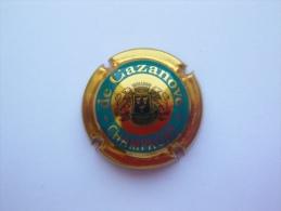 Capsule Plaque De Muselet Champagne De Cazanove - Or Turquoise Et Noir - De Cazanove