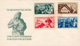 Czechoslovakia / First Day Cover (1950/04) Praha 1 (_): Liberation Of Czechoslovakia (1945) - 3,00 Agriculture; Tractor - Landwirtschaft