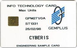 France - CYBERIS Engineering Sample Test Card - Frankrijk