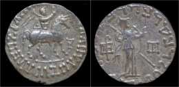 Indo-Scythian Azes I AR Tetradrachm - Griegas