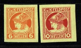 1916 Postes aux Arm�es Timbres pour journaux  Valeurs  6 et 10 Heller Non Dentel�s  Neufs avec charni�re