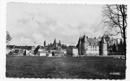 (RECTO / VERSO) JALIGNY EN 1951 - VUE GENERALE ET LE CHATEAU - BEAU CACHET - CARTE FORMAT CPA - Autres Communes