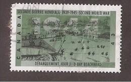 CANADA, 1994, USED # 1537,  SECOND WORLD WAR---1944,   D-DAY BEACHHEAD - 1952-.... Règne D'Elizabeth II