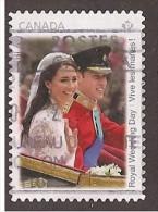 CANADA, 2011. USED # 2478,  WEDDING DAY WILLIAM & KATE - 1952-.... Règne D'Elizabeth II