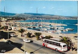 La Ciotat - Le Boulevard Beau Rivage Et Le Nouveau Port De Plaisance - Autobus - Edition G. Gandini - CPSM Iris, Dentelé - La Ciotat