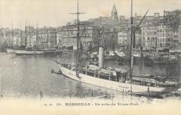 Marseille, Un Coin Du Vieux Port, Bateau à Quai - Edition G.M. - Carte Publicitaire Touring-Hôtel (chambres Hygièniques) - Publicités