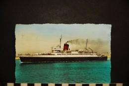 """BATEAUX- PAQUEBOT """" VILLE D´ORAN """" -Cie Générale Transatlantique - Steamers"""