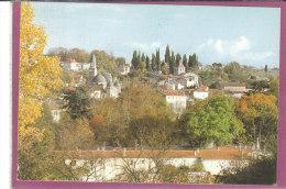 24.- RIBERAC .- Vue Générale  ( Carte Toilée ) - Riberac