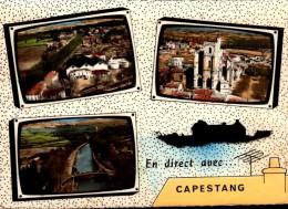 34-EN DIRECT AVEC CAPESTANG...3 VUES DONT CAVE COOPERATIVE..CPSM GRAND FORMAT - Capestang