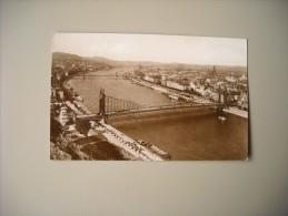 HONGRIE BUDAPEST VUE DU DANUBE AVEC PONT ELISABETH - Hongrie