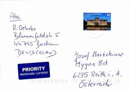 Auslands - Brief Von 44795 Bochum Mit 80 Cent Schloß Ludwigslust 2015 - BRD