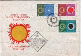 BULGARIA /Bulgarie 1965 ASTRONOMY - YEAR OF THE CALM SUN FDC - Astronomie