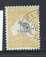 Australia 1913 5 Shilling Grey & Yellow Kangaroo Fine CTO - 1913-48 Kangaroos