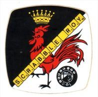 Coq Wallon Charleroi Scrabble Autocollant Du Club Le Scrabbleroy  Amicale TT (vers 1980) - Autocollants