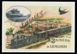 LEDEGHEM  .... TRAIN ....   Souvenir  Creation Moderne Série Limitée Et Numerotée 1 à 10 ... N° 2/10 - Roeselare