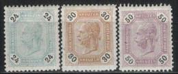 �STERREICH 1891 - MiNr: 64+65+66     */MH