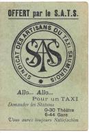 OFFERT PAR LE S.A.T.S...SAUMUR...HORAIRES DES TRAINS ..SERVICE D'ETE 1935... TBE.   SCANS - Documents Historiques