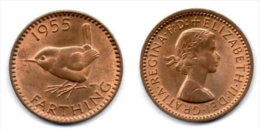 Grande-Bretagne 1 Farthing 1955. - 1902-1971 : Post-Victorian Coins