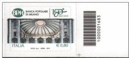 2015 - Banca Popolare Di Milano Con Barcode 1683 Serie Cpl. 1v. Nuovo**  Perfetto - 6. 1946-.. Repubblica