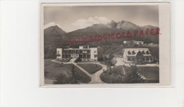 SLOVAQUIE - VYSOKE TATRY - HOHE TATRA - SPISSKY DOMOV V POZADF MORAVA - CARTE PHOTO - Slovaquie
