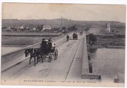 DIVES - Vue Prise Du Pont De CABOURG - Attelage- Voiture - Animé - Dives
