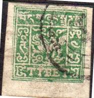 Tibet 4 Trangka WF # 205: DEEP OLIVE GREEN VF Used & GENUINE (4-259) - Stamps
