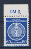 DDR Dienst Gruppe A Nr. 15 X I ** postfrisch Oberrand