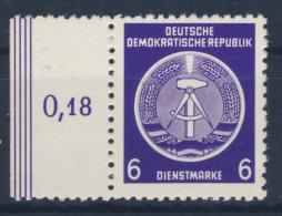 DDR Dienst Gruppe A Nr. 2 X II ** postfrisch Seitenand
