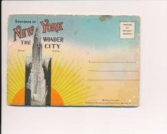 CPA ETATS-UNIS Souvenir Of NEW YORK Carnet De 24 Vues Vers 1930 - NY - New York