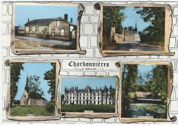 CHARBONNIERES (28) - Multivues (Le Groupe Scolaire, Le Centre, L'Eglise, Le Château, Bord De L'Ozanne)   -  Cpsm Gf - France