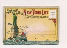 CPA ETATS-UNIS Souvenir Of NEW YORK Carnet De 20 Vues Vers 1930 - NY - New York