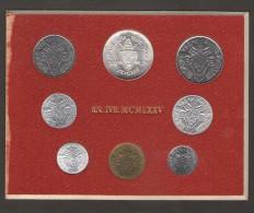 VATICANO SERIE 8 MONETE 1975 AN. IVB. MCMLXXV - Vaticano