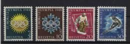 Schweiz Michel No. 492 - 495 ** postfrisch
