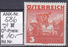 """1934/36  -  FM/DM-Ausgabe """"Österr. Volkstrachten""""  -  **  Postfrisch  - Siehe Scan (586) - Neufs"""