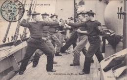 C P A---BATEAUX GUERRE---exercices De Boxe---voir 2 Scans - Warships