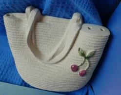 Vintage GABRIEL Sweden I671 Swedish Wall Decor Plaque Ceramic Signed BAG For Flowers ? - Unclassified