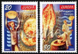 Georgia - 2005 - Europa CEPT - Gastronomy - Mint Stamp Set - Georgien