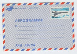France CONCORDE MINT AEROGRAMME FIRST FLIGHT 1969 - Concorde