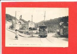 76 ROUEN  Cpa Animée Tramway De Rouen A Bonsecours       481 LL - Rouen