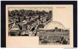 KAPHERNAUM-- Double Vues  Ruines Et-port Avec Bateau De Pêche--éditeur Joh Wagner-années 1900-10 - Palestine